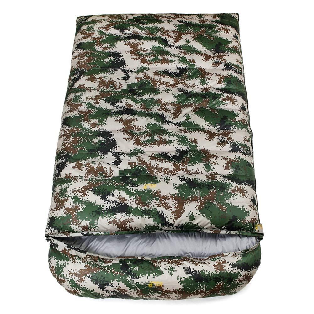 スリーピングバッグ、軽量暖かい睡眠バッグダブル人特大厚い睡眠袋屋外キャンプハイキングスリーピングパッド,camouflage,1800g B07MQMPX4Q camouflage 4000g 4000g|camouflage