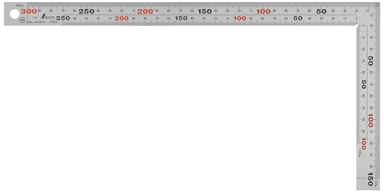 シンワ測定 厚手広幅 シルバー 30cm