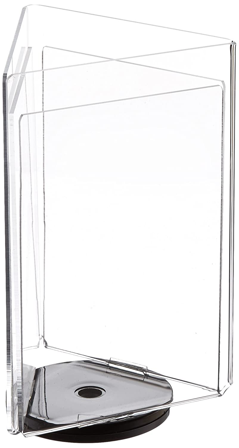 Azar Displays 193732 8.5 W x 11 H 3-Sided Sign Holder with Revolving Base