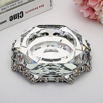Carteras y accesorios para bolsos Práctico cenicero de cristal Caja de almacenamiento Multifunción Enviar padre Cenicero