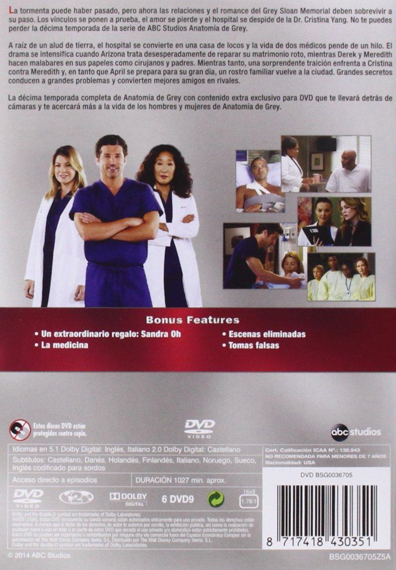 Anatomía De Grey - Temporada 10 [DVD]: Amazon.es: Ellen Pompeo ...