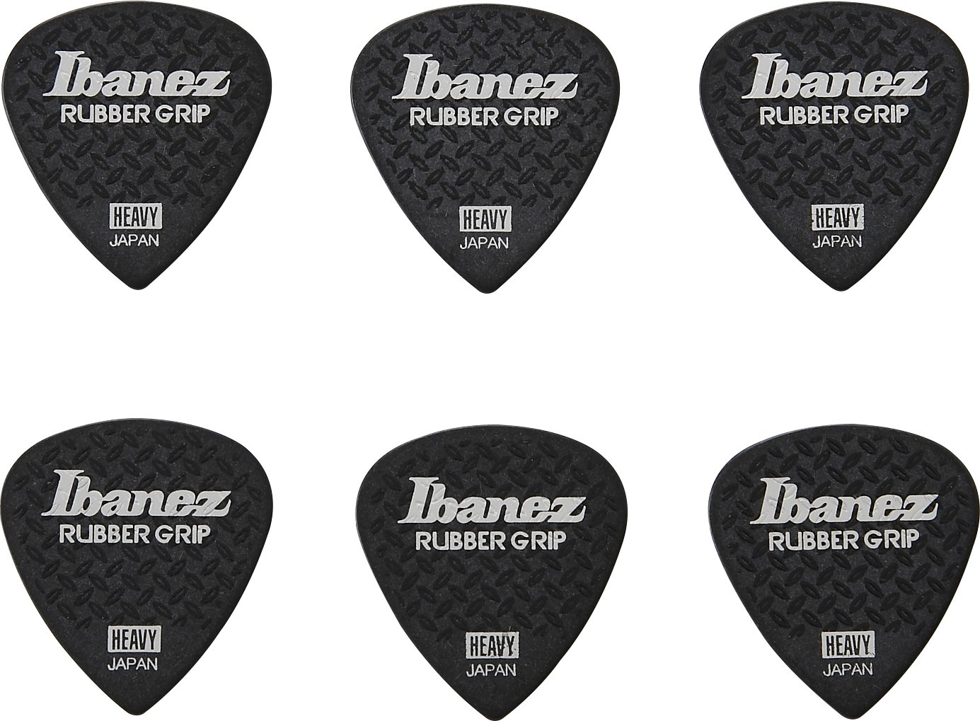 Amazon.com: Ibanez Grip Wizard PPA16HRGBK Guitar Picks, Black, 1.0mm ...