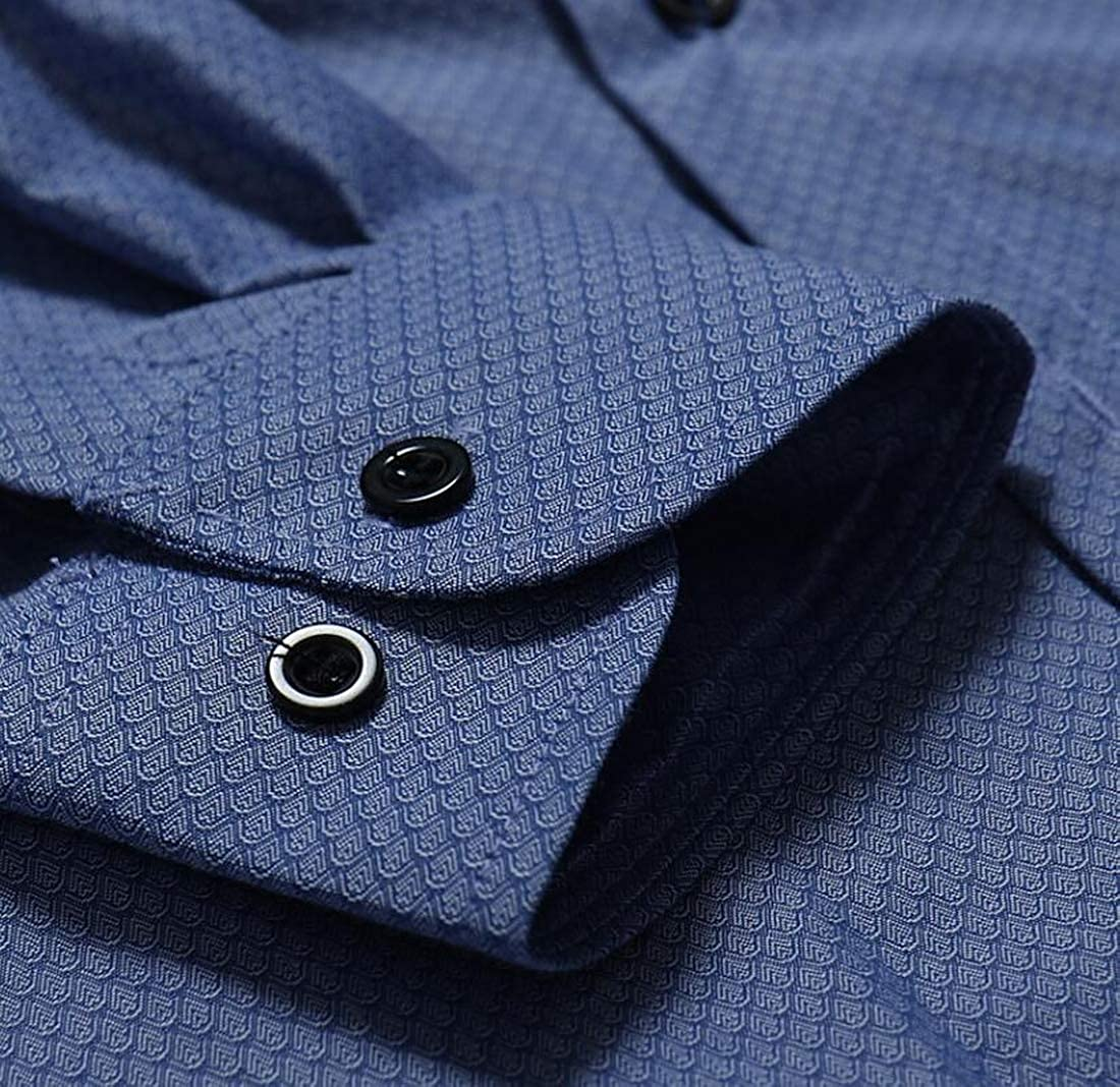 Nanquan Men Regular-Fit Solid Color Long Sleeve Dress Button Down Shirt