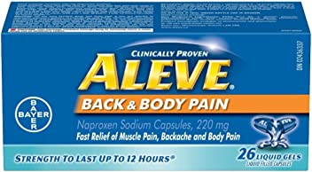ALEVE Back and Body Medications, 26 Count
