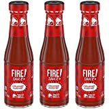Taco Bell Fire Sauce Glass Bottle, 7.5 OZ