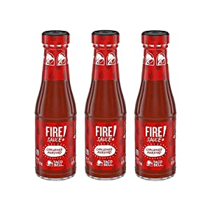 Taco Bell Signature Fire Sauce, 7.5 Fl Oz | Pack of 3