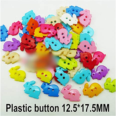 Flower Buttons Plastic x 5   13 colours to choose  Sewing//Craft//Scrapbook
