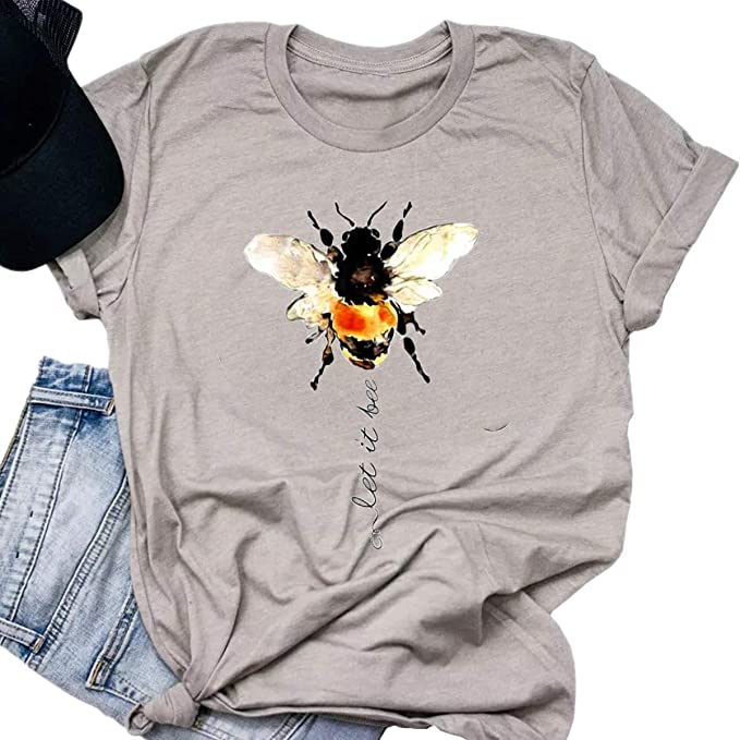 Amazon.com: EIGIAGWNG - Camiseta de manga corta para mujer ...