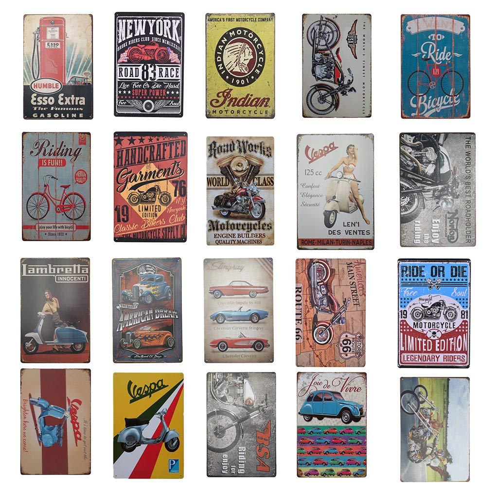 Metal Tin Sign MOBILOIL DECOR Bar Pub Accueil Rétro Vintage Poster CAFE