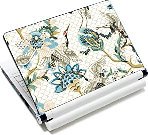 Laptop Notebook Skin Sticker Cover Decal Fits 12 13 13.3 14 15 15.4 15.6 inch Laptop Protector Notebook PC | Easy to Apply, Remove and Change Styles (Cranes and Flowers)