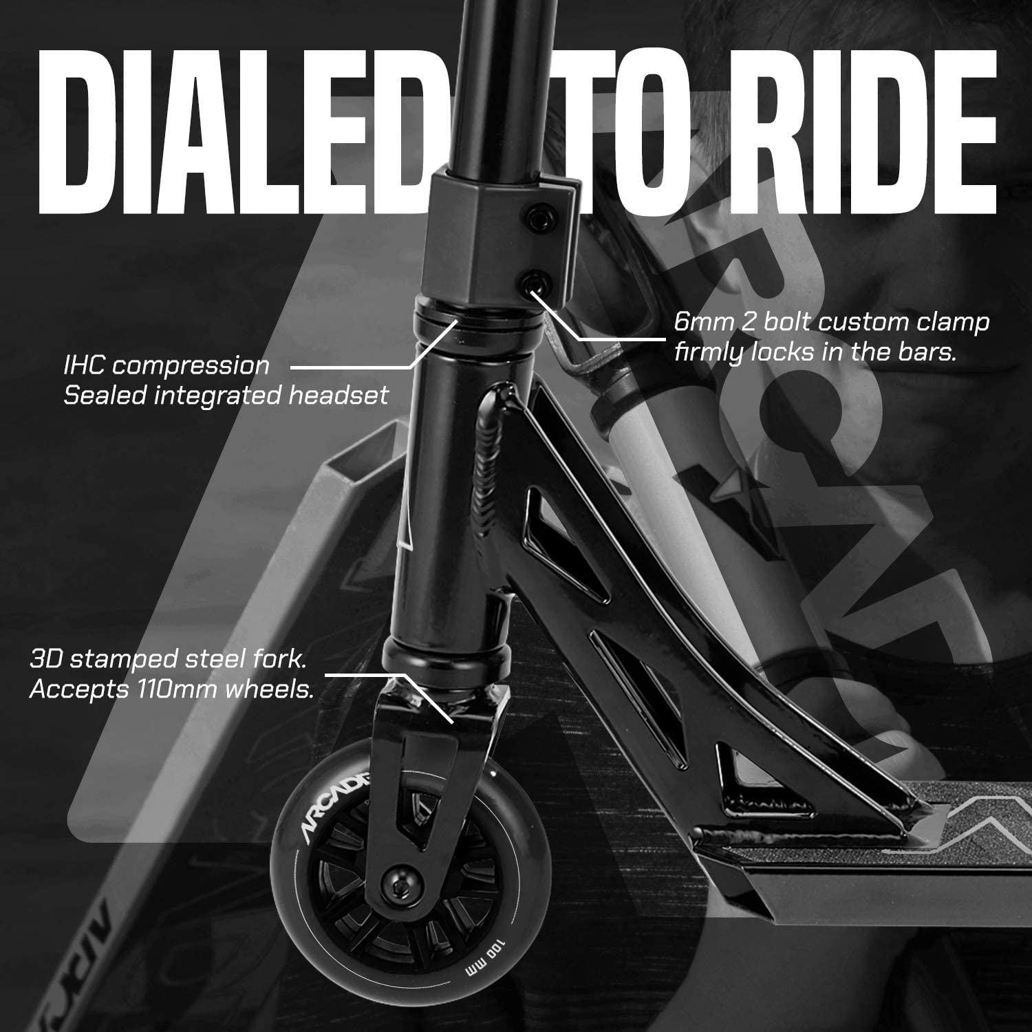 Black Stunt Scooter for Kids 8 Years and Up Arcade Defender Pro Scooters Best Trick Scooter for BMX Freestyle Tricks Perfect for Beginners Boys and Girls