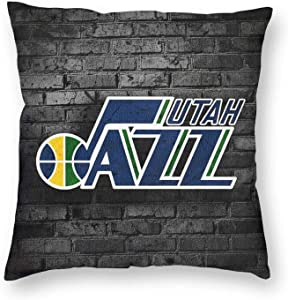 Jazz_Basketball Sports_Utah Cozy Velvet Square Decorative Throw Pillow Covers for Couch and Bed, Decorative Cotton Linen Pillow Case for Sofa Bedroom,Home Decor Throw Pillow Cover 24