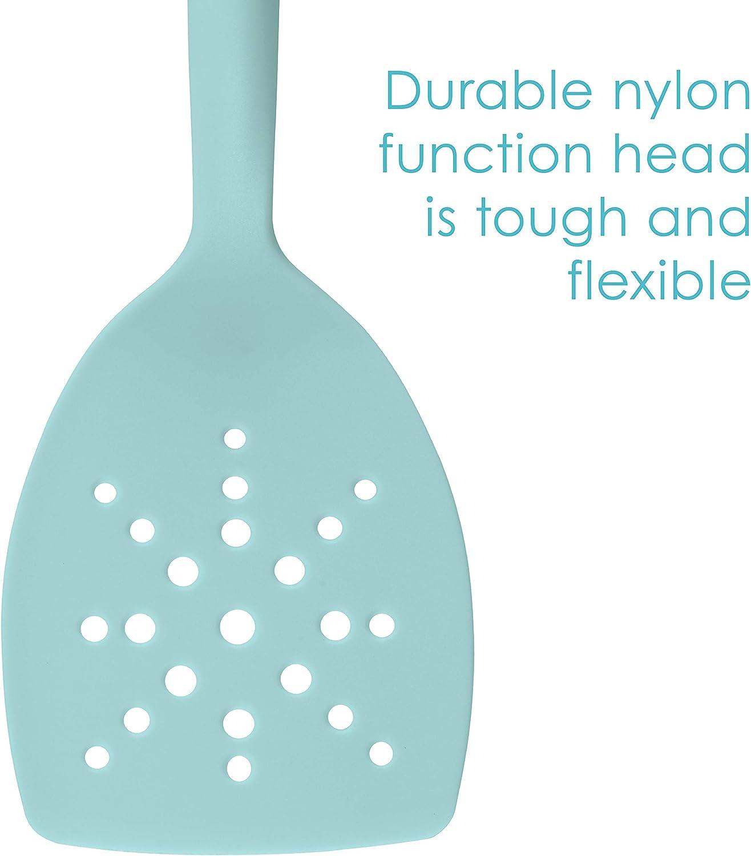 Rachael Ray 47916 3-Piece Lazy Tool Nylon Slotted Turner Set Burgundy