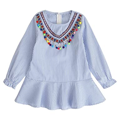 5121a2ef42f24 DAY8 Fille 2 à 7 Ans Vetement Robe Princesse Chic Hiver Robe Soirée Fille  Chic ete