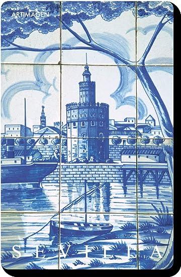 Artimagen Imán Azulejo Sevilla Torre del Oro 45x70 mm.: Amazon.es: Hogar