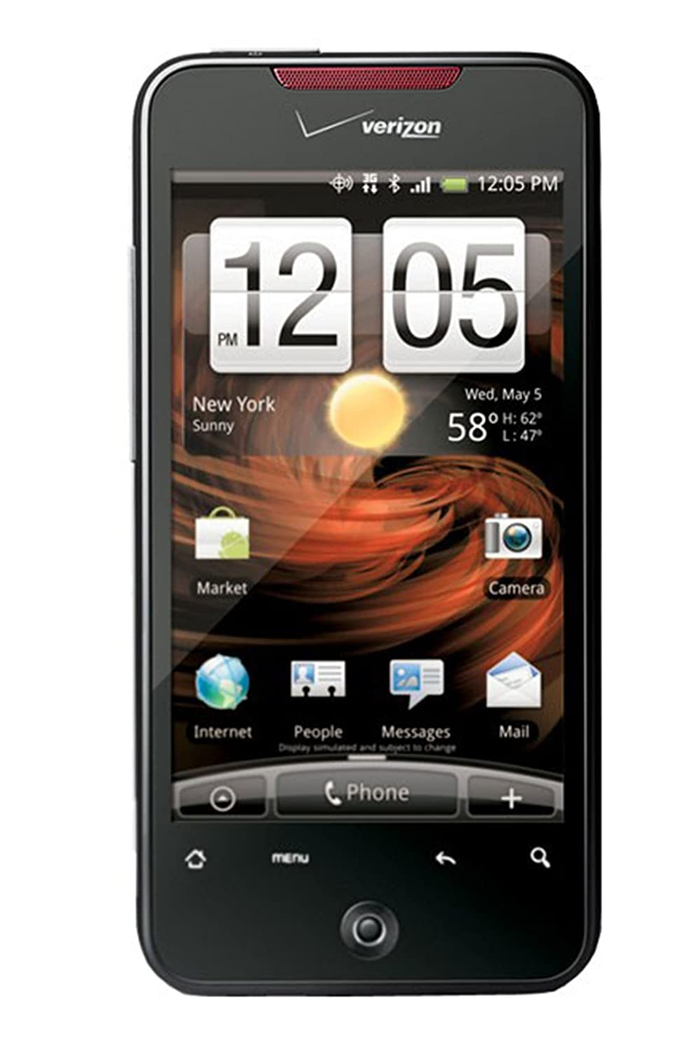 Amazon.com: HTC DROID INCREDIBLE ADR 6300 3G Android Phone Black (Verizon  Wireless): Cell Phones & Accessories