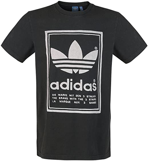 adidas archive logo te maglietta uomo bianco m