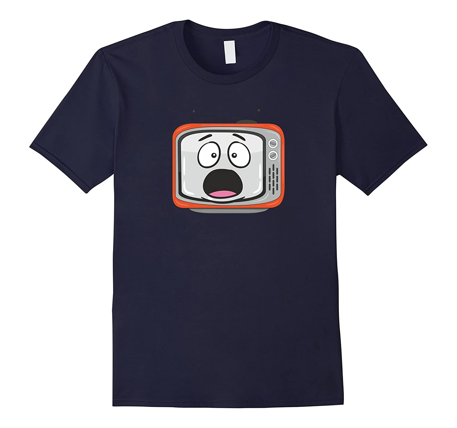 Shocked Retro TV Emoticon T Shirt Gift Boys Girls Women Men-Art