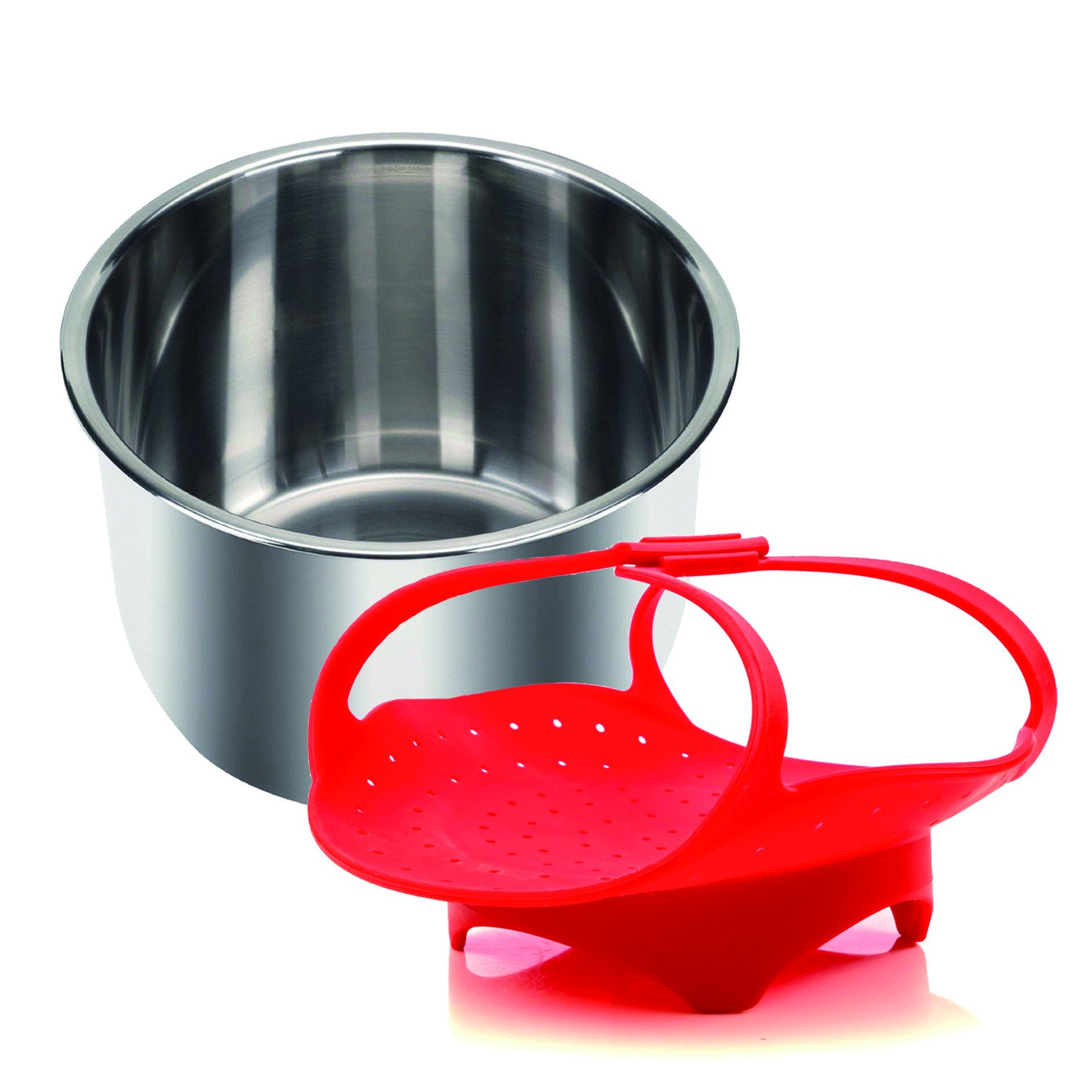 Insta Pot/IP-Compatible Silicone Steamer Basket (BPA-Free) - Fits All Instapot Models