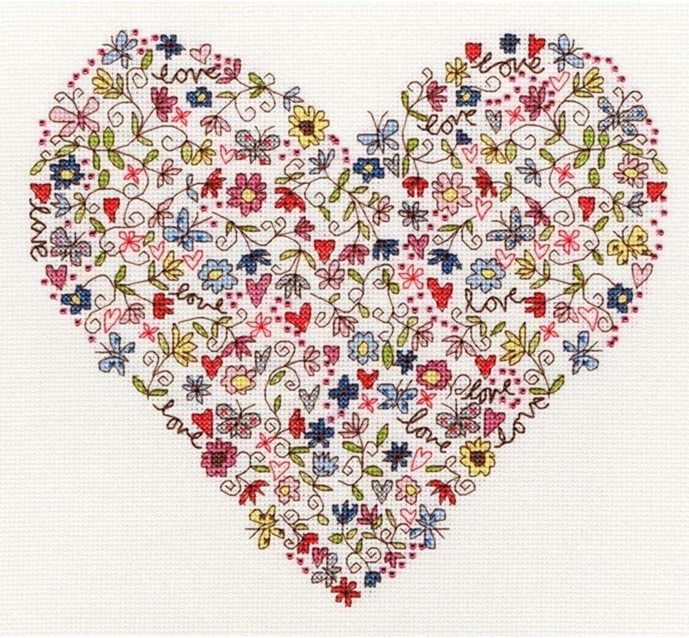Cross Stitch Kit Lovely heart