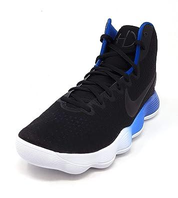 online store 85994 7bb68 Amazon.com   Nike Men s React Hyperdunk 2017 Black Metallic Silver Blue  Jay White Nylon Basketball Shoes   Basketball