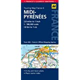 AA Road Map Midi-Pyrenees (AA Touring Map France 061) (Road Map France)