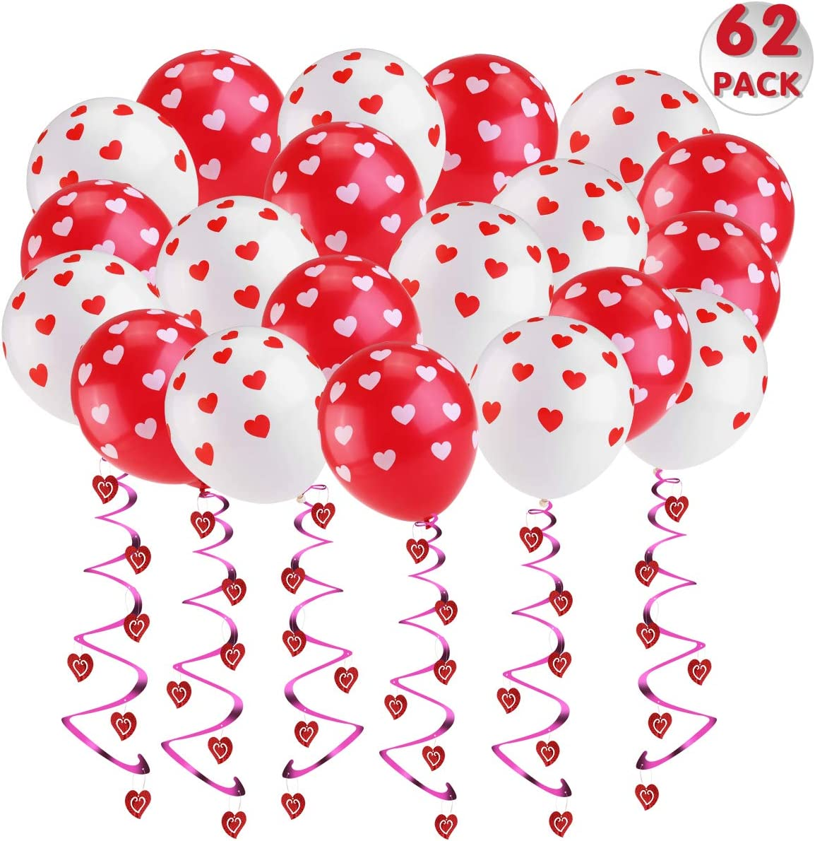 Heart Balloons Heart Shape Decorations Love Balloons White /& Red Valentines Decorations Gift Idea for Him or Her Unomor Party Decorations Wedding Girl Baby Shower Birthday Decorations