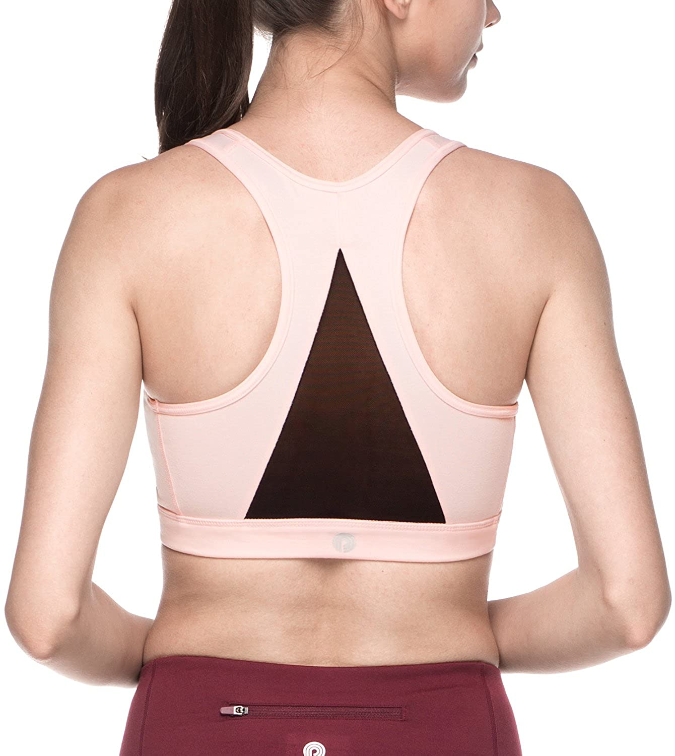 LAPASA Womens Sports Bra. Removable Pads, Extra Breathable, Racerback, Mid-Impact Support (for Yoga, Workout, Running) L28