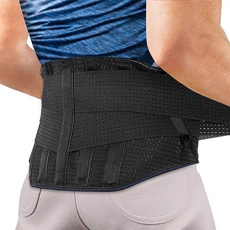 Fascia lombare supporto schiena aiuta a dare sollievo a dolore lombare agptek unisex BR1BL