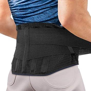 Faja Lumbar para Espalda, AGPTEK Cinturón de Soporte Lumbar Ayuda ...
