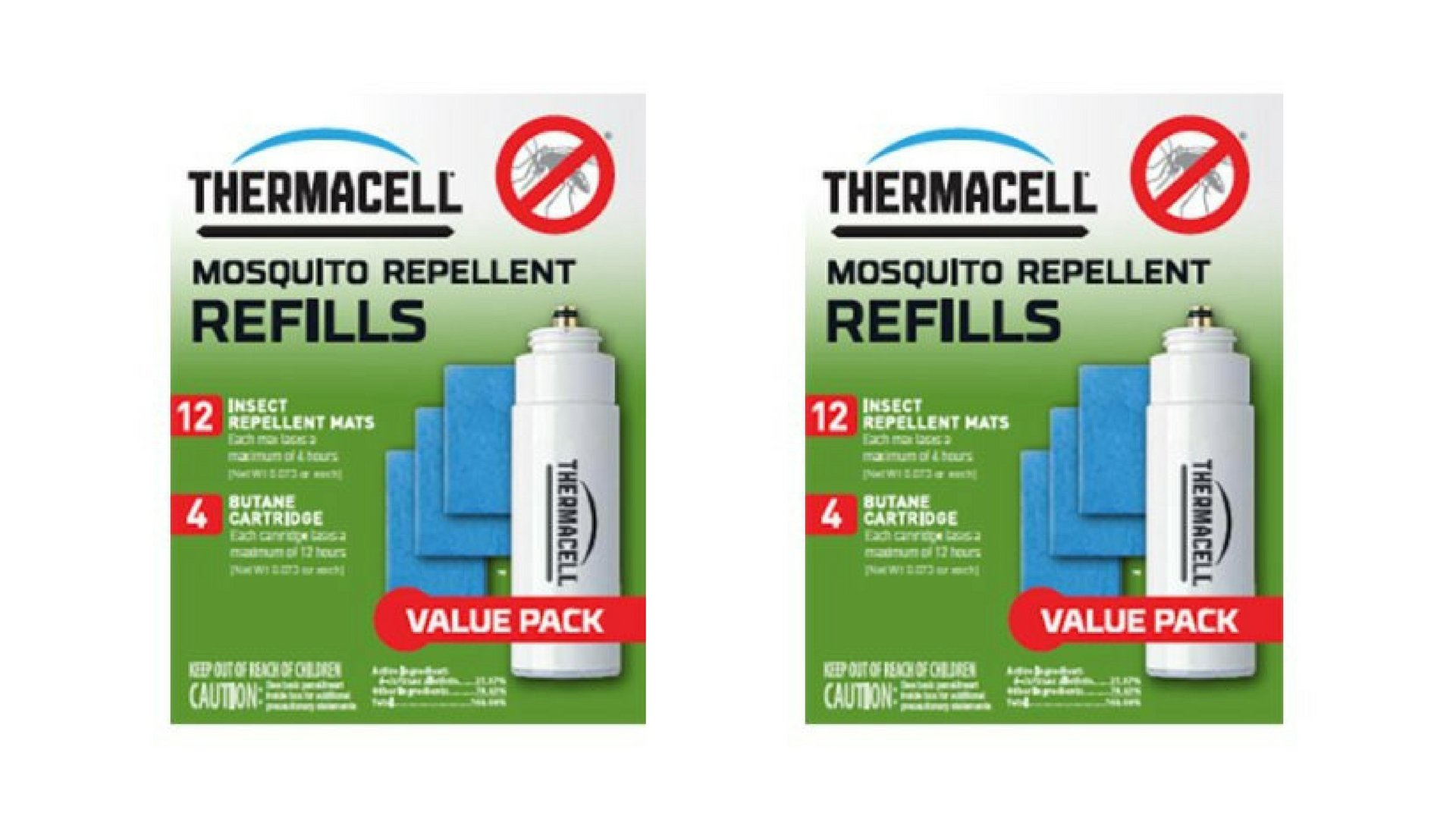 Thermacell Mosquito Repellent Refill Value Pack Set of 2, Bundle