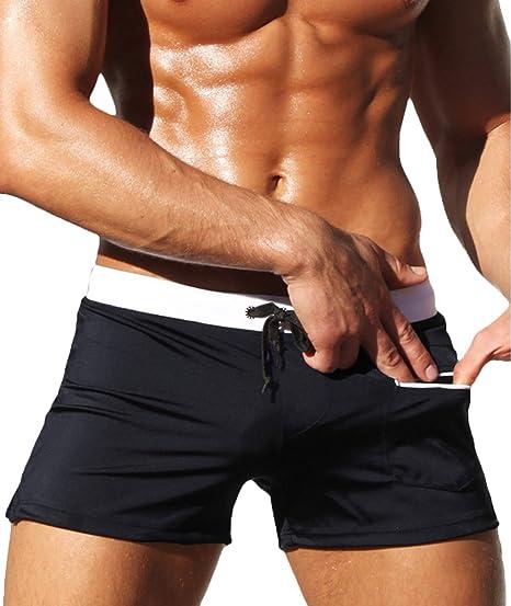 58d092b8f13 BELLOO Men s Boxer Shorts Swim Beach Pants Swimming Trunks for Men ...