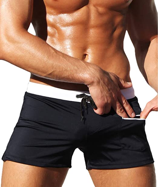 d5bb190d161 BELLOO Men's Boxer Shorts Swim Beach Pants Swimming Trunks for Men ...