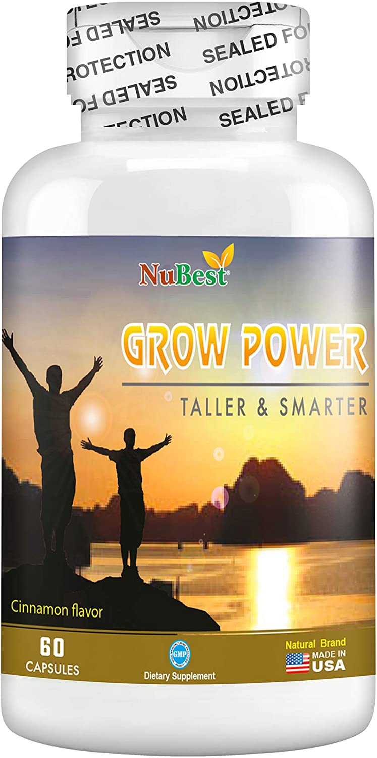 Amazon Com Grow Power Pills Maximum Natural Growth Height Formula For Children And Teens Height Growth Supplement How To Grow Taller 60 Vegan Capsules Health Personal Care