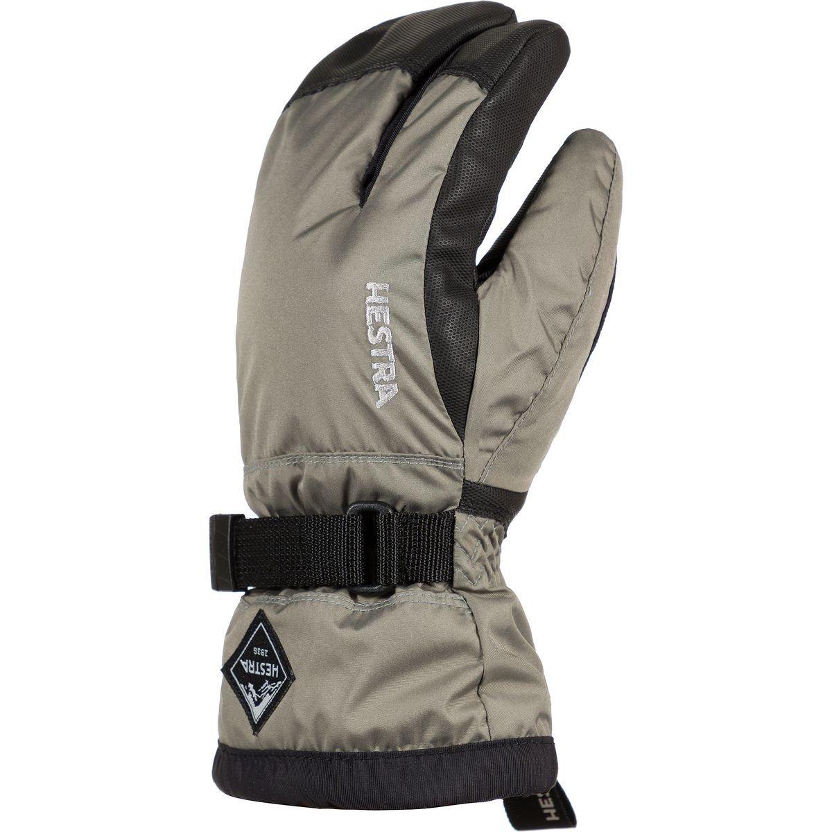Hestra Gloves 32532 Jr. Gauntlet CZone 3-Finger, Dust/Black - 3