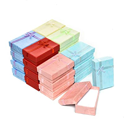 12 Pieces Gifts Box Set for Pendants Necklaces Pens Cardboard Jewelry Boxes