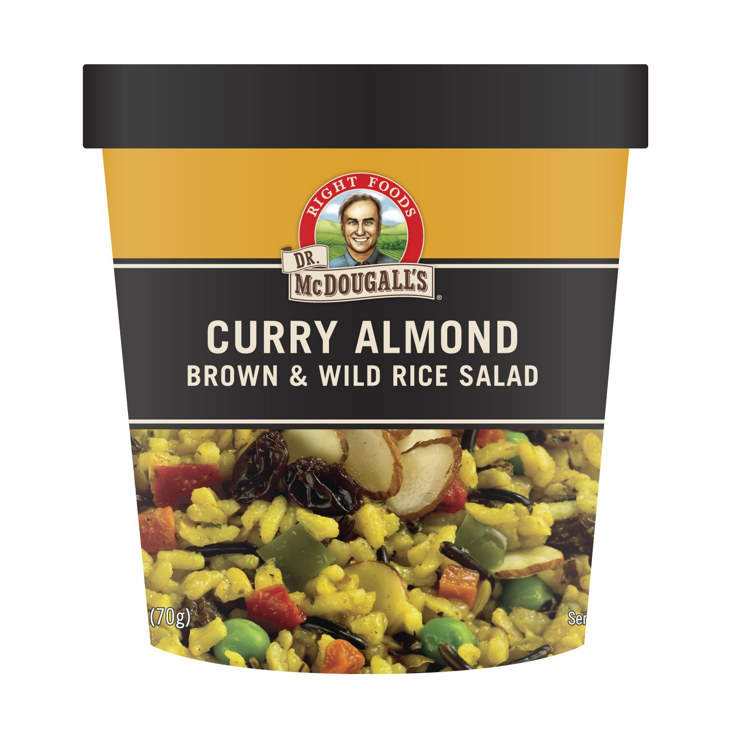 Dr. McDougall's Right Foods Vegan Curry with Brown & Wild Rice Pilaf, 2.5-Ounce Cups (Pack of 6) by Dr. McDougall's Right Foods
