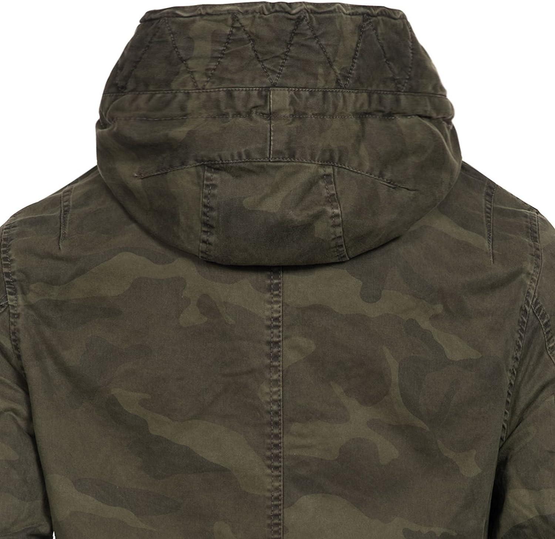 Jet Lag Herren Winterjacke Parka 17-224 Kapuze Army Camouflage