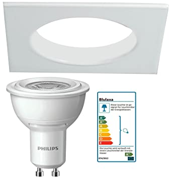 Elegant Strahler Quadratisch Eckig Wei Starr Mit Philips Watt Led Lampen  Mit Gu Sockel Spot Downlight With Philips Led Lampen Gu10