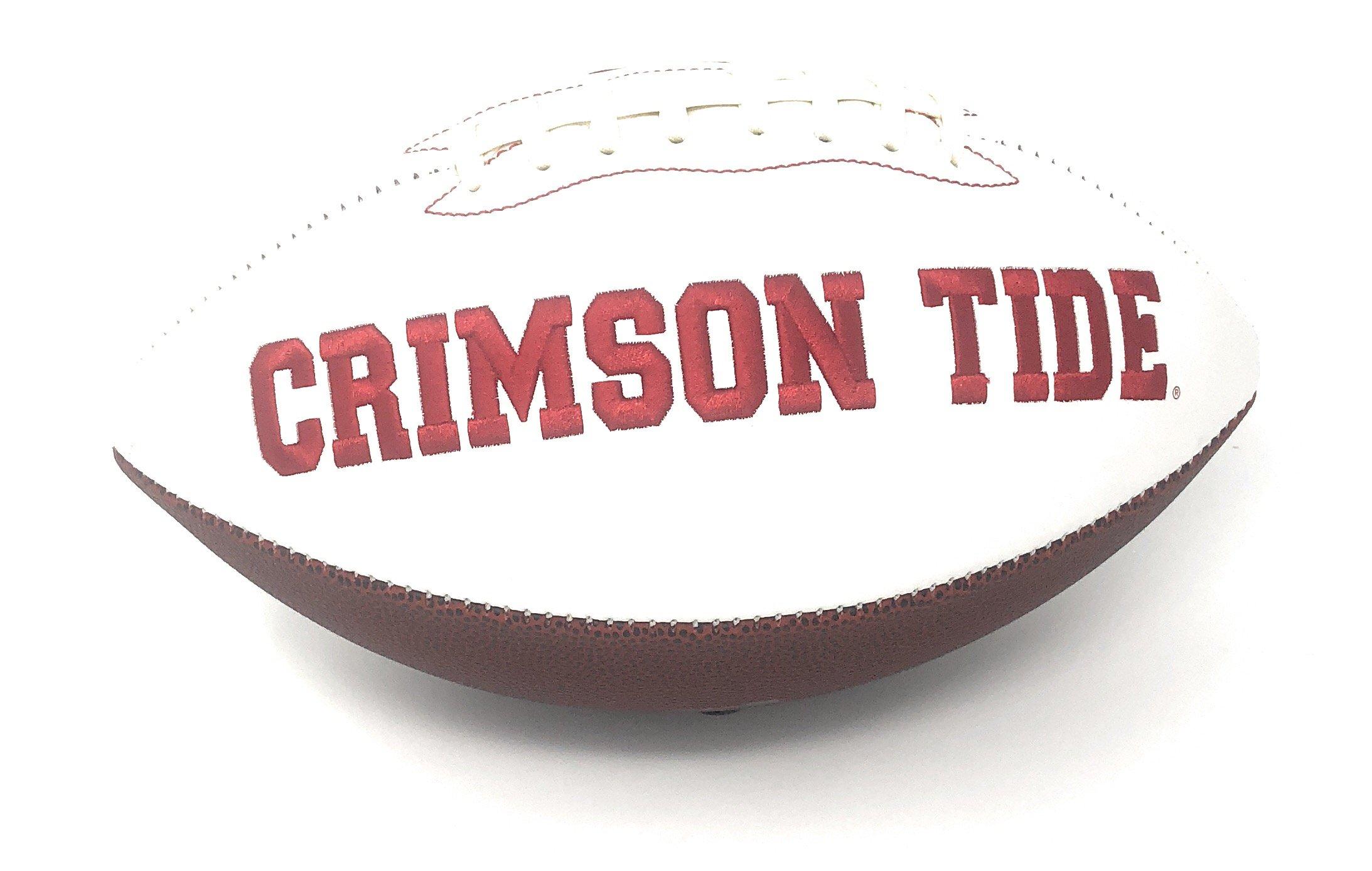 Joe Namath Alabama Crimson Tide Signed Autograph Embroidered Logo Football Namath GTSM Player Hologram