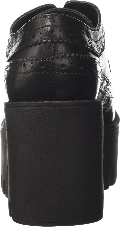 Windsor Smith Foxy, Scarpe Stringate Basse Brogue Donna Nero Black Leather A6NOLC