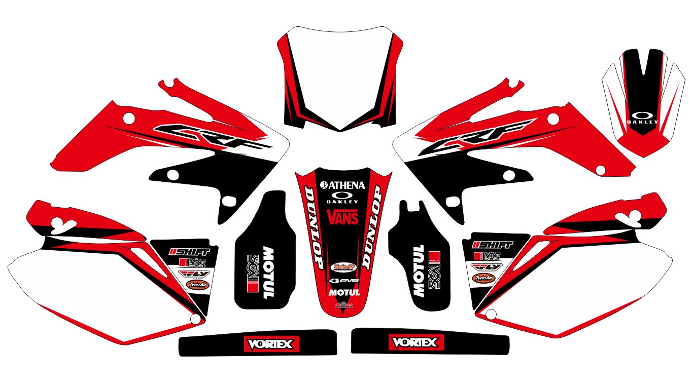 5436 honda crf 250 2006 2009 decals stickers graphics kit trim decals amazon canada
