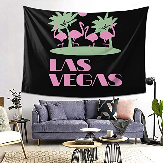 Amazon Com Hangyin Pink Las Vegas Tapestry Wall Tapestry Home Decor For Bedroom Living Room College Dorm 80 X 60 Home Kitchen