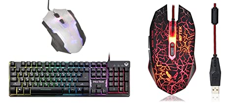ae1491a5302 MEETION K9300 Semi Mechanical 19 Keys Anti-ghosting Rainbow Backlit Wired Gaming  Keyboard and X