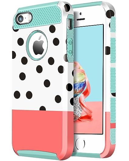 amazon com bentoben iphone 5s case, iphone 5 se case, polka dotbentoben iphone 5s case, iphone 5 se case, polka dot dual layer slim scratch