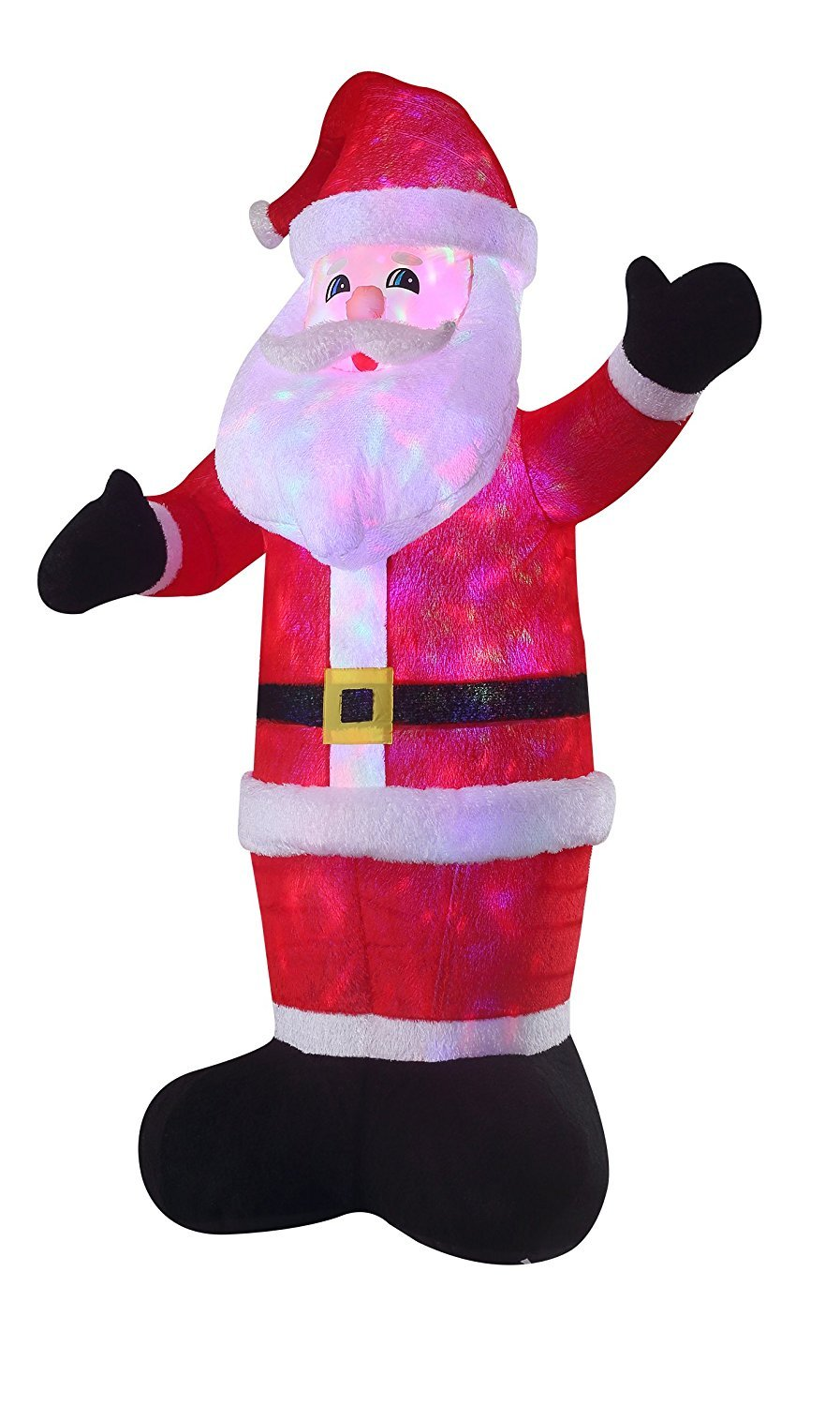 New 8 FT Inflatable Plush Santa Clause With 2pcs Disco Lights Christmas X'mas Decoration by Beyond Shop USA (Image #4)