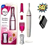 PRASHA Sensitive Touch Expert Electric Trimmer for Women (Pink)