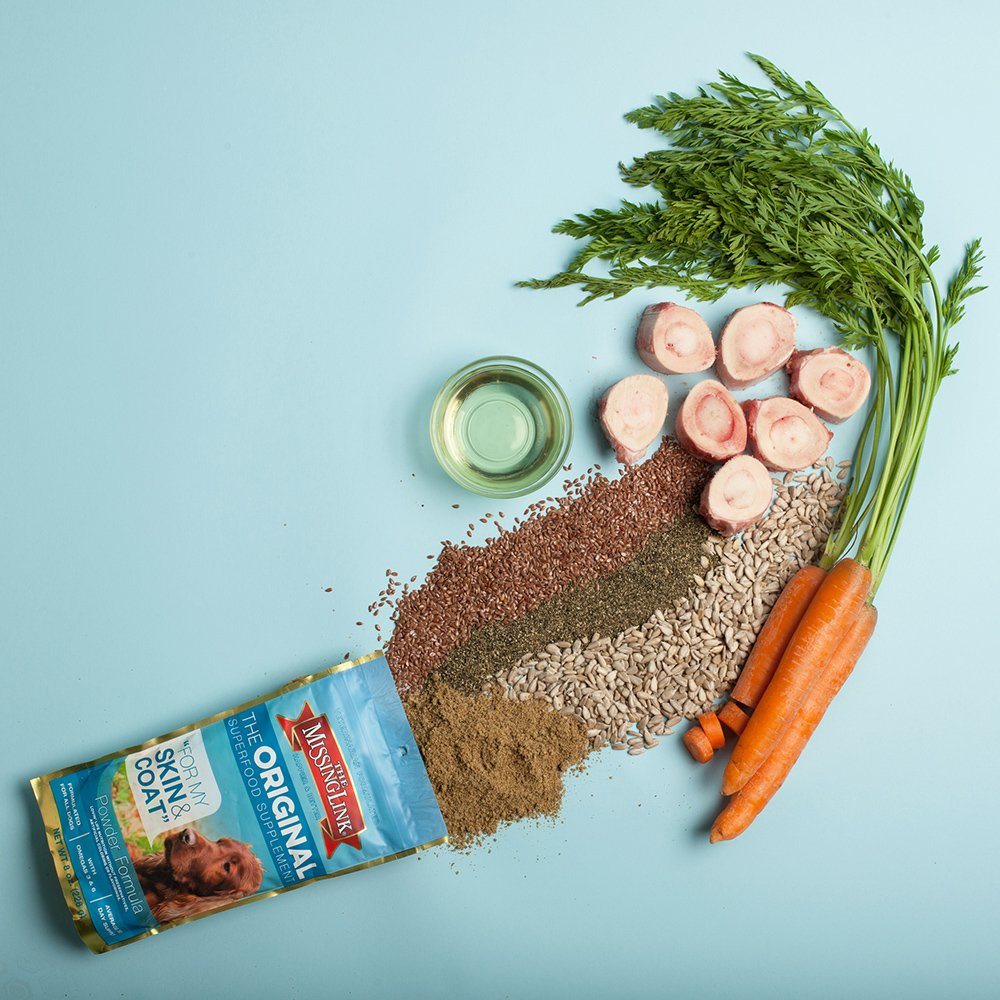 The Missing Link - Original All Natural Superfood Dog Supplement- Balanced Omega 3 & 6 to support Healthy Skin & Coat – Skin & Coat Formula – 1 lb. by The Missing Link