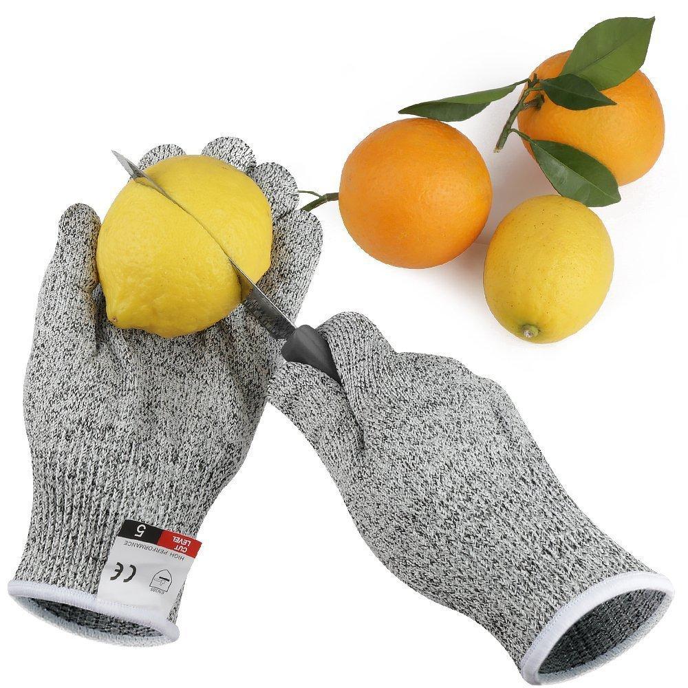 grade 5 guanti in polietilene ad alta resistenza antitaglio Hppe Knit guanti da cucina cut-proof Woodworking Macellazione immerso guanti –  XXS/XS/S/M/L/XL Zoomlie