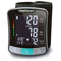 HealthSmart Digital Premium Wrist Blood Pressure Monitor with Cuff That Measures...